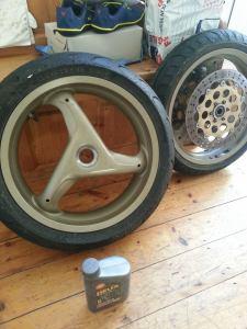 Ducati 916 748 standard three spoke alloy wheels.